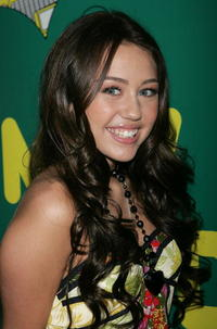 Miley Cyrus at MTV's Total Request Live at the MTV Times Square Studios in N.Y.