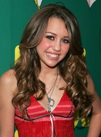 Miley Cyrus at the MTV's Total Request Live.