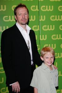 Donnie Wahlberg and Nathan Gamble at the CW Television Network Upfront.