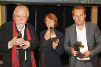 Michael Lonsdale, Caroline Champetier and Xavier Beauvois at the 16th Cerememonie Des Lumieres in France.