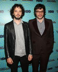 Brett McKenzie and Jemaine Clement at the 25th Film Independent Spirit Awards.