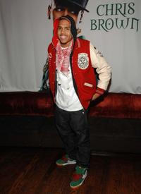 Chris Brown at the press conference regarding his new partnership with Ford and BET Networks.