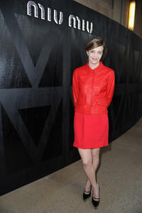 Celine Sallette at the Miu Miu Fall/Winter 2013 Ready-to-Wear show in France.