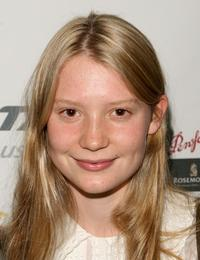 Mia Wasikowska at the UK screening of