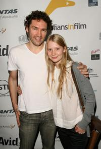 Director Nash Edgerton and Mia Wasikowska at the UK screening of