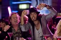 Colm Meaney as Jonathan and Russell Brand as Aldous in
