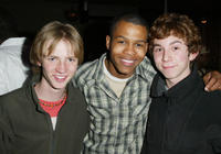 Luke Eberl, Andrew McFarlane and Aaron Himelstein at the ABC My Wife and Kids Wrap party in California.