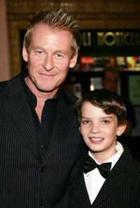 Richard Roxburgh and Kodi Smit-McPhee at the Melbourne premiere of