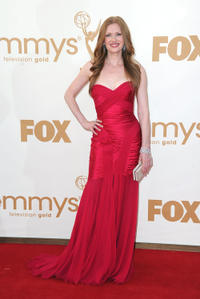 Mireille Enos at the 63rd Annual Primetime Emmy Awards in California.