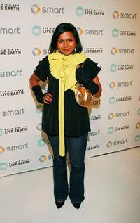 Mindy Kaling at the Live Earth And Smart House Party.