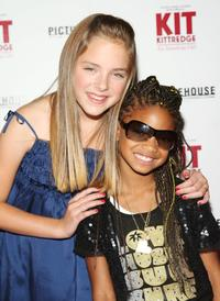 Madison Davenport and Willow Smith at the premiere of