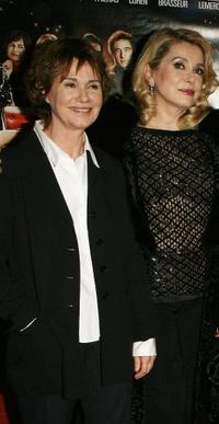 Miou-Miou and Catherine Deneuve at the premiere of