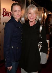 Helen Mirren and Robin Wright Penn at the premiere of Paramount Pictures