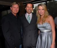 Kevin Williamson, D.W. Moffett and Amber Heard at the premiere party of