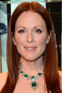 Julianne Moore at the BVLGARI celebration of Elizabeth Taylor's collection in Beverly Hills.