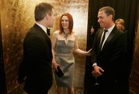 Julianne Moore at the cocktail reception for the 150th Anniversary dinner of Boucheron.