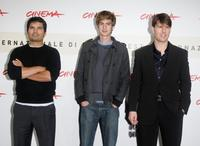 Michael Pena, Andrew Garfield and Tom Cruise at the photocall of