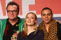 Tom Arnold, Gillian Jacobs and Evan Ross at the photocall and press conference of