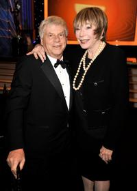 Robert Morse and Shirley MacLaine at the 15th Annual Screen Actors Guild Awards cocktail party.