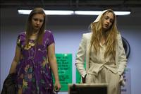 Lena Dunham as Aura and Jemima Kirke as Charlotte in
