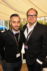 Iain Canning and Peter Lawson at the Weinstein Company Cocktail party during the 63rd Annual Cannes Film Festival.