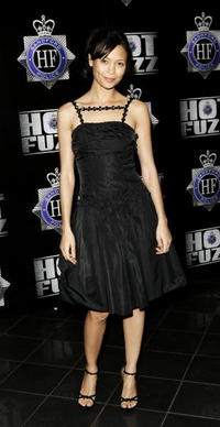 """Thandie Newton at the world premiere of """"Hot Fuzz"""" in London, England."""