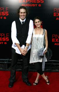 T.J. Miller and Lizzy Caplan at the premiere of