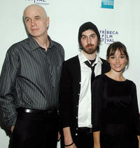 Tom Noonan, director Ti West and Jocelin Donahue at the New York premiere of