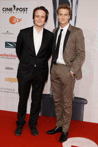 August Diehl and Alexander Fehling at the 24th European Film Awards in Germany.
