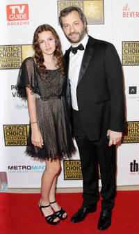 Maude Apatow and producer Judd Apatow at the Broadcast Television Journalists Association Second Annual Critics' Choice Awards.