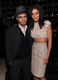Richie Akiva and Jessica Szohr at the HELP HAITI Benefiting The Ben Stiller Foundation and The J/P Haitian Relief Organization in New York.