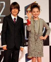 Liam James and Morgan Lily at the premiere of