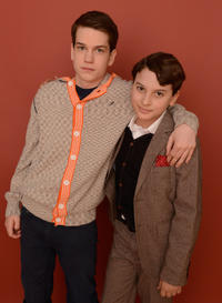 Liam James and River Alexander at the portrait session of