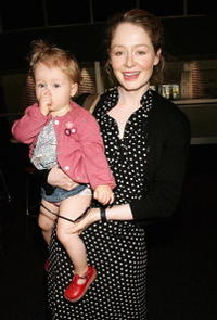 Miranda Otto and her daughter Darcey at the Wiggles special show to celebrate 15 years in show business.