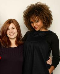 Stefanie Black and Hayley Marie Norman at the 2008 Sundance Film Festival.