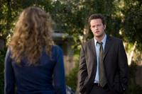 Leslie Mann as Scarlet and Matthew Perry as the adult Mike O'Donnell in