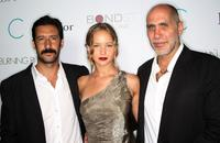 Jose Maria Yazpik, Jennifer Lawrence and Guillermo Arriaga at the premiere of