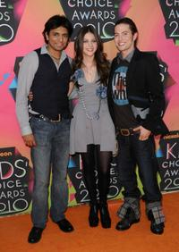 M. Night Shyamalan, Nicola Peltz and Jackson Rathbone at the Nickelodeon's 23rd Annual Kids Choice Awards.
