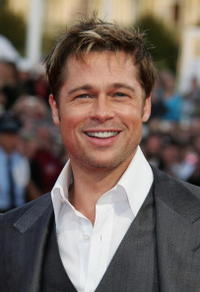 Actor Brad Pitt at the French premiere of