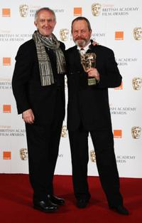 Jonathan Pryce and Terry Gilliam at the Orange British Academy Film Awards 2009.