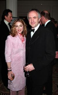 Madonna and Jonathan Pryce at the Evening Standard Film Awards.