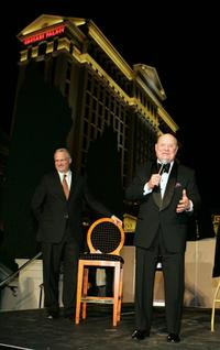 Don Rickles and Gary Selesner at the Caesars Palace Laurel Award presentation ceremony during The Comedy Festival.