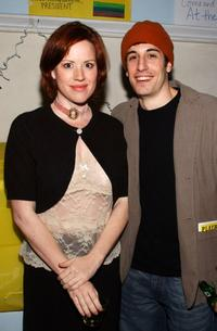 Molly Ringwald and Jason Biggs at the after party for the opening of