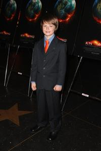 Chandler Canterbury at the premiere of