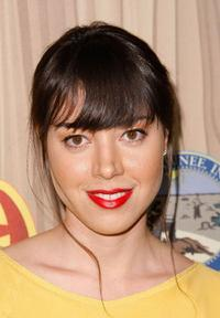Aubrey Plaza at the premiere of