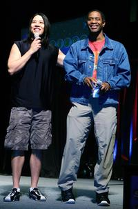 Garrett Wang and Tim Russ at the fifth annual official Star Trek convention.