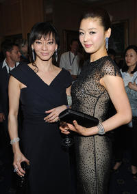Producer Florence Low Sloan and Gianna Jun at the cocktail reception of