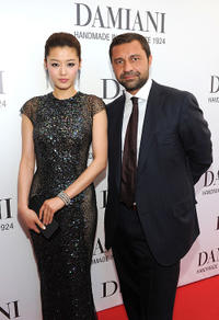 Gianna Jun and Giorgio Damiani at the cocktail reception of