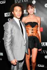 Corbin Bleu and Gal Gadot at the CW Network celebration of its new series