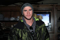 Liam Hemsworth at the Oakley Learn to Ride Fueled by Muscle Milk and Lounge in Utah.